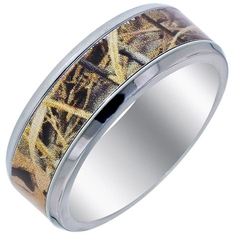 Wedding Band 8mm by Mens Camouflage Wedding Band In Titanium 8mm