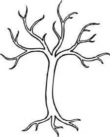outline of a tree clipart best