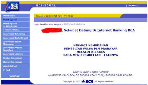 bca no cara transfer dana dengan internet banking klikbca