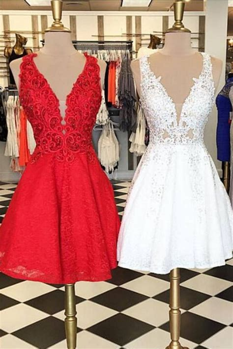 Best 25  Red v neck dress ideas on Pinterest   Sexy party dress, Red gown prom and Red a line dress