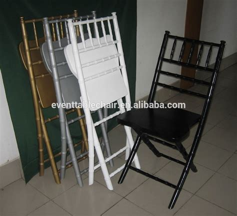 fancy white folding chairs used banquet wood chiavari folding chairs for sale