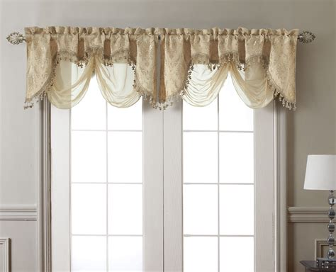window valances new elegant kasbah gold clipped jacquard w sheer window