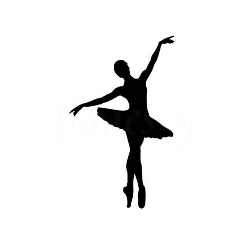 Contemporary Wall Stickers dancer silhouette with scarf pictures inspirational pictures