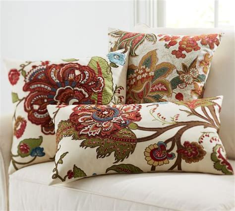 pottery barn sofa pillows floral embroidered pillow covers pottery barn