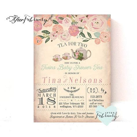 Tea Baby Shower Invites by 1000 Ideas About Joint Baby Showers On