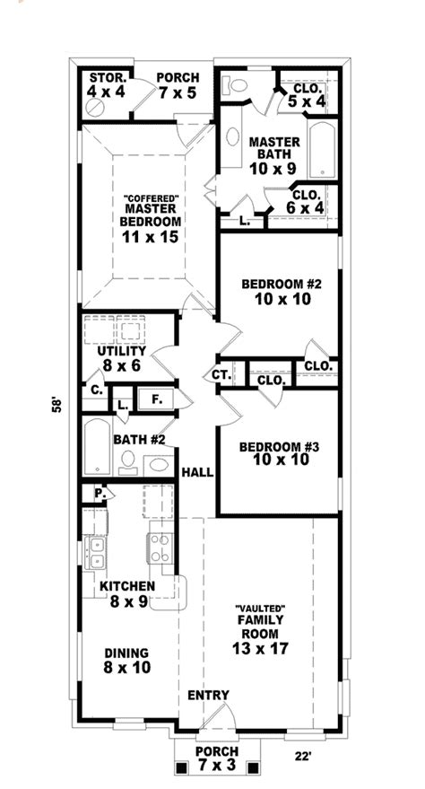 floor plans for narrow lots hannafield narrow lot home plan 087d 0013 house plans and more