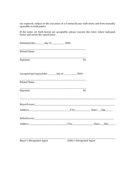 commercial letter  intent illinois