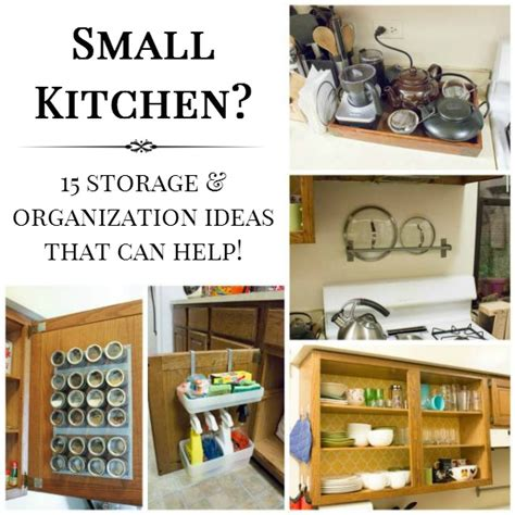15 Small Kitchen Storage Organization Ideas Apartment Kitchen Organization Ideas