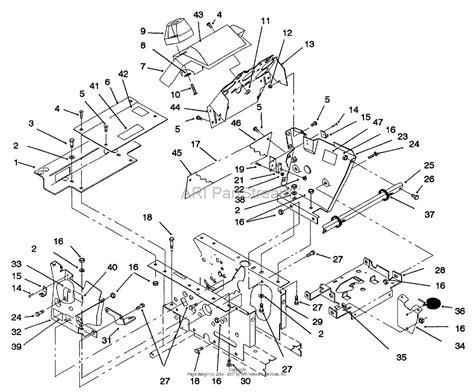 toro    garden tractor  sn   parts diagram  hoodstand console
