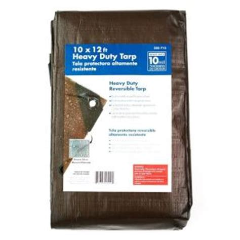 10 ft x 12 ft heavy duty tarp hf1012 the home depot