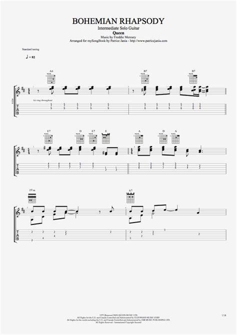 fingerstyle tutorial bohemian rhapsody guitar bohemian rhapsody guitar tabs bohemian rhapsody