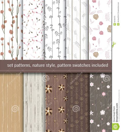illustrator pattern nature nature seamless patterns stock vector image 55125475