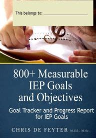800 Measurable Iep Goals Objectives by 800 Measurable Iep Goals And Objectives Goal Tracker And