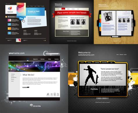free 3d website templates five exquisite web templates vector material download