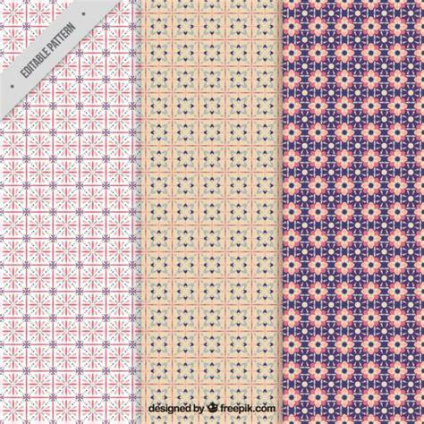 cute pattern set cute geometric pattern set vector premium download