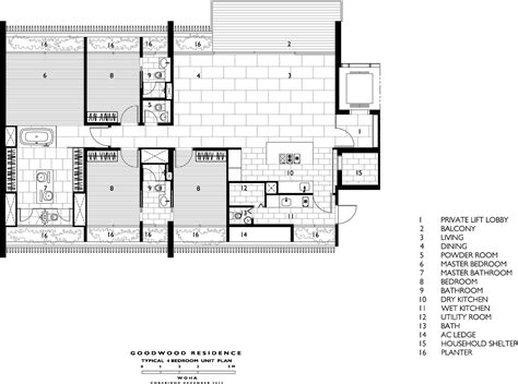 1 moulmein rise floor plan gallery of goodwood residence woha 16