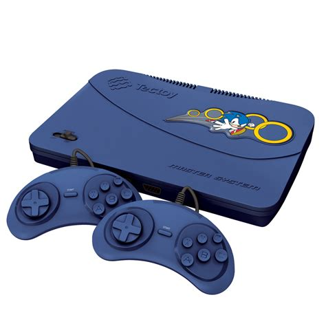 console videogame console tectoy master system evolution c 132 jogos blue