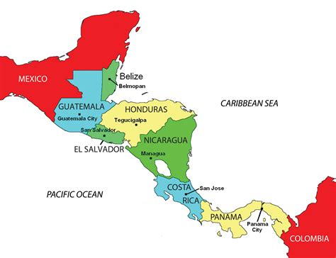 map of central and south america with capitals 302 found
