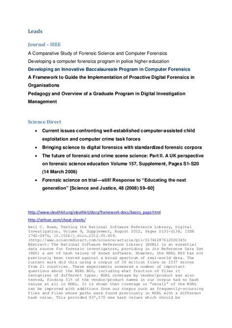 digital forensics report sle computer forensics