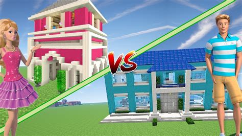 videos de casas de barbie casa de barbie vs casa de ken minecraft youtube