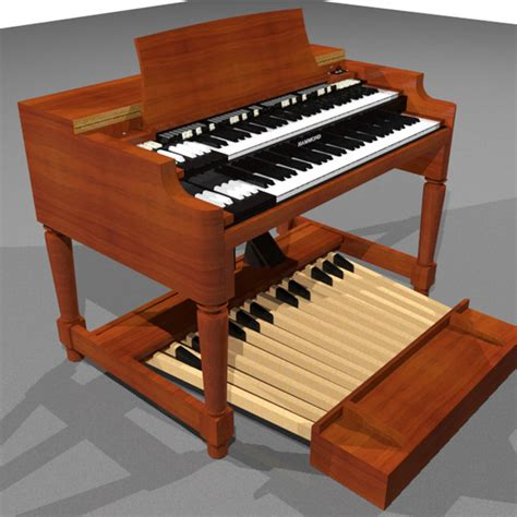 Keyboard Hammond 3d Model Organ Keyboard Hammond