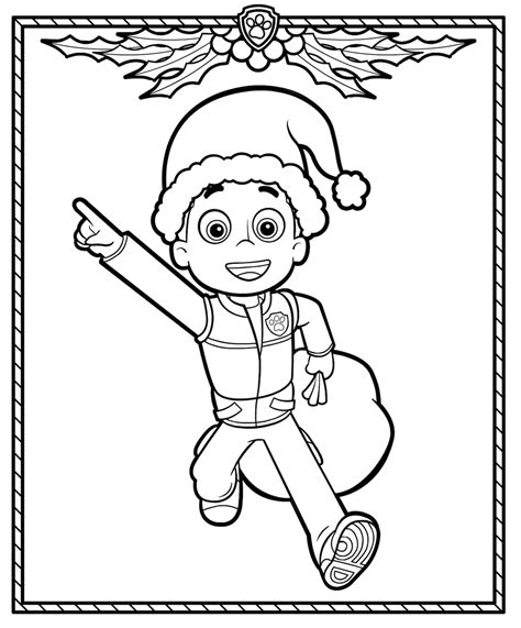 paw patrol holiday coloring pages christmas coloring pages
