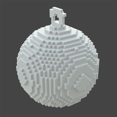printable ornaments 3d 3d printed pixellated ornament 3d model 3d printable obj