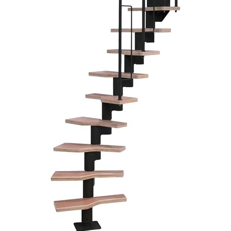 Home Depot Stair Railings Interior by Shop Dolle Graz 9 5 Ft Black Modular Staircase Kit At