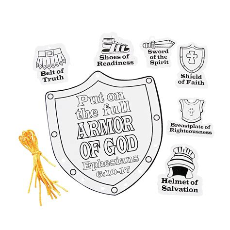 armor of god crafts for color your own armor of god mobile craft kit
