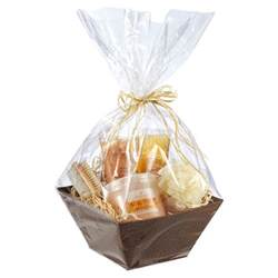 gift basket plastic wrap clear cellophane rolls the container store