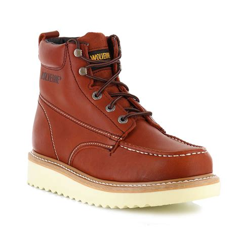 wolverines boots wolverine s moc toe work boots boot barn