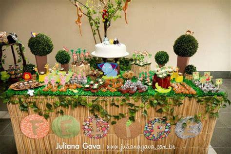 jungle theme table decorations kara s ideas rainforest jungle birthday kara