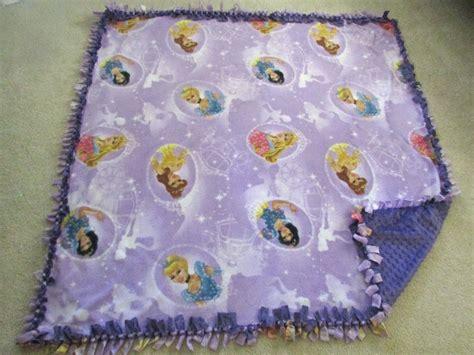 Handmade Fleece Blankets - purple handmade disney princess fleece tie blanket