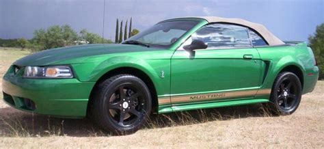 electric green 1999 mustang paint cross reference