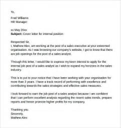 cover letter for internal position sample example