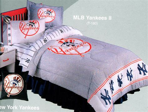 new york yankees bedding one twin single size flat sheet fitted sheet and pillowcase features bed mattress sale