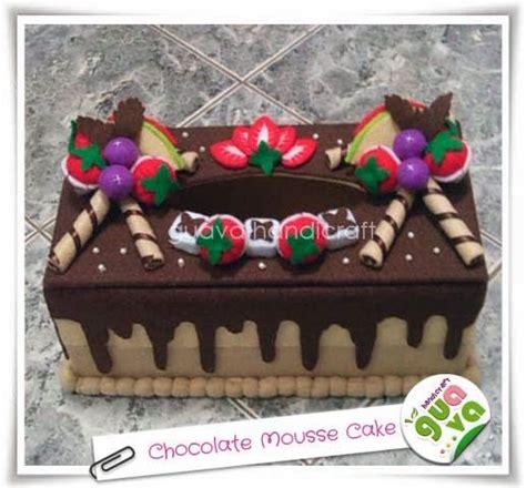 Tissue Box Kotak Tempat Tisu kotak tisu flanel chocolate mousse cake felt tissue box cover chocolate