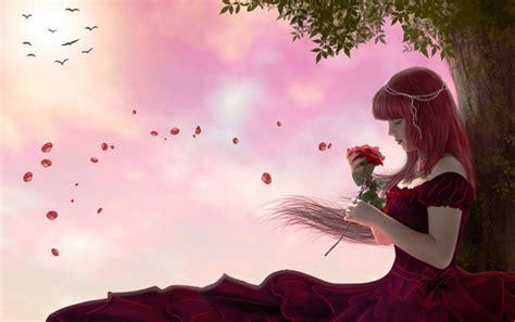 imagenes de mujeres wallpapers mujer de pelo rojo vestido de rose tree fondos de pantalla