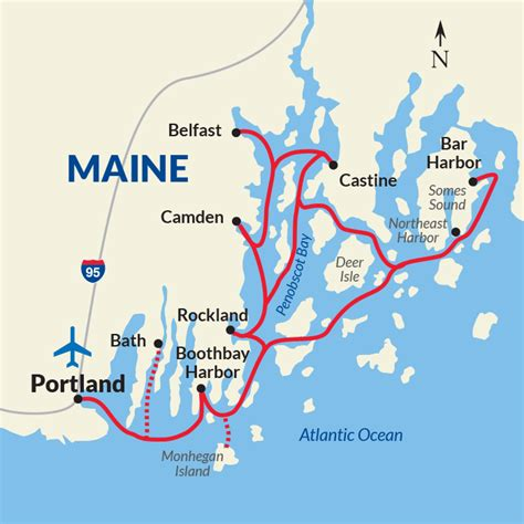 map of maine coastline cruise the maine coast and harbors new cruises