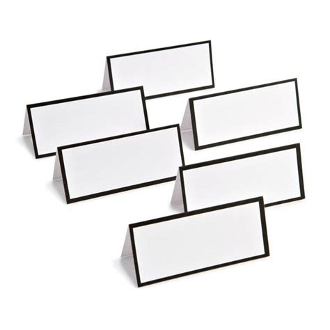 48 Place Card Template by Black Border Place Cards 4 99 For 48 Wedding Planning