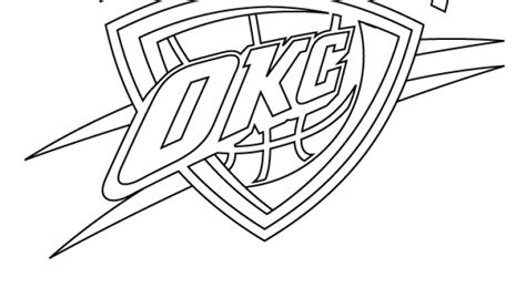 okc thunder pages coloring pages