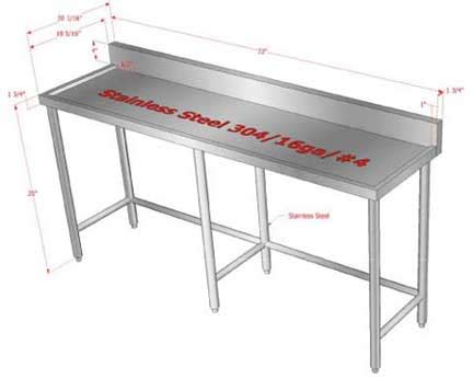 kitchen inspiring kitchen prep table stainless steel used