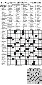 home crossword sle of los angeles times sunday crossword puzzle