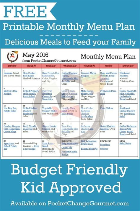 printable budget recipes delicious meals to feed your family in the printable may