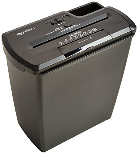 Amazonbasics Shredder by Amazonbasics 8 Sheet Cut Paper Cd And Credit Card Import It All