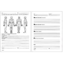 chiropractic travel card template soap notes patient client visit forms for sale pack of 100