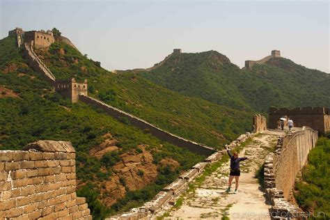 The China walking the great wall of china jinshanling curiouscatontherun