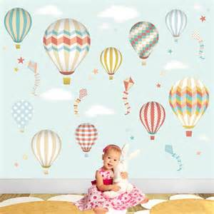 hot air balloon amp kites wall stickers hot air balloon wall stickers contemporary wall decals