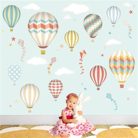 Air Balloons Wall Sticker air balloon kites wall stickers