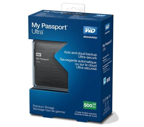 wd my passport ultra slim portable drive 500 gb titanium deals pc world